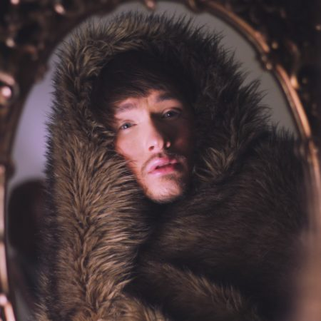 Alexander Wills Wearing A Faux Fur Blanket